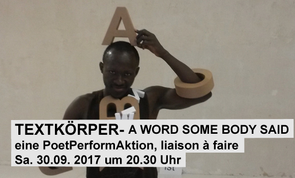 Textkörper - a word some body said